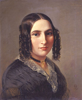 """Fanny Hensel 1842"""" von Moritz Daniel Oppenheim - Unbekannt. Lizenziert unter Public domain über Wikimedia Commons"""